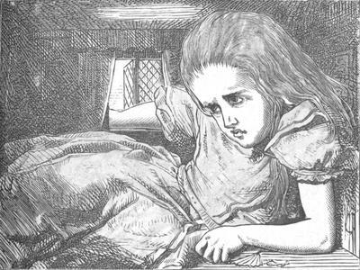 'Alice, as she grows larger', 1889