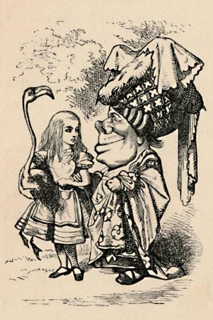 'Alice carrying the stork, and talking to the Duchess', 1889