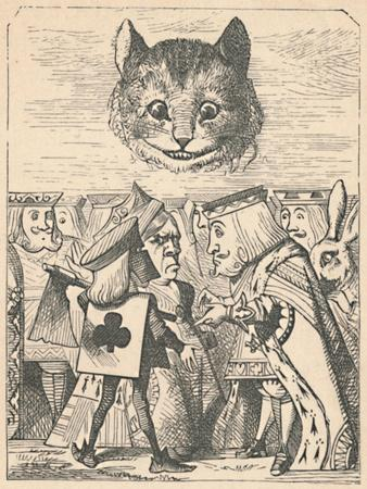 'The Cheshire Cat looking down at the Red King and Queen having an argument', 1889