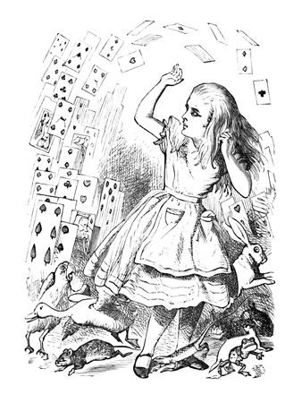 'A pack of cards flying up over Alice', 1889