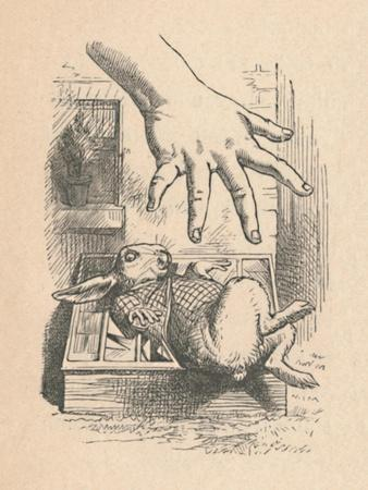 'Alice putting her hand down to the White Rabbit', 1889