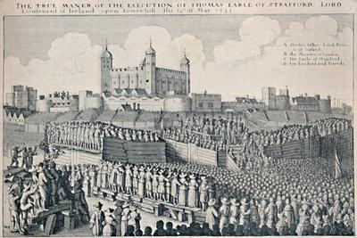 'Execution of the Earl of Strafford', c1641, (1903)