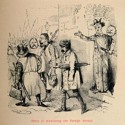 'Henry II. dismissing the Foreign Barons', c1860, (c1860)