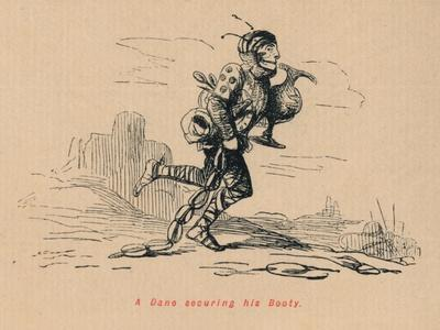 'A Dane securing his Booty', c1860, (c1860)