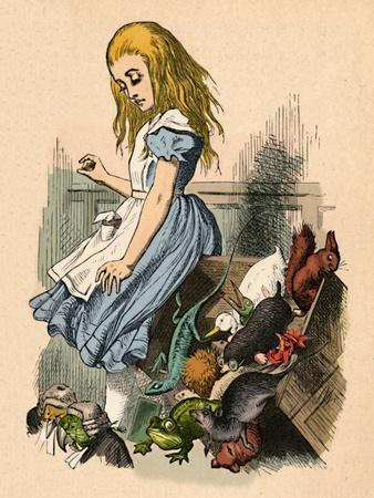 'Alice and animals. Chaos and the court', 1889