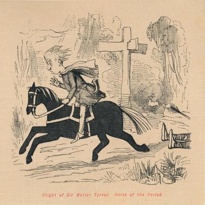 'Flight of Sir Walter Tyrrel. Horse of the Period', c1860, (c1860)