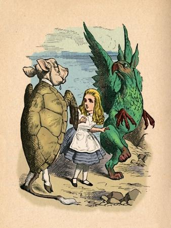 'The Mock Turtle, Alice and The Gryphon', 1889