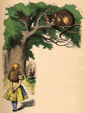 'Alice and the Cheshire Cat', 1889