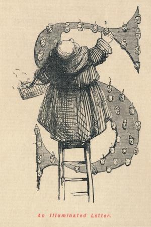 'An Illuminated Letter', c1860, (c1860)