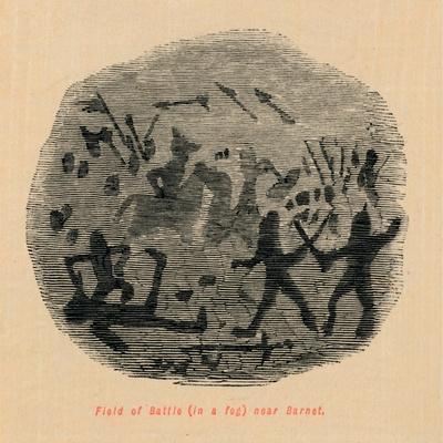 'Field of Battle (in a fog) near Barnet',