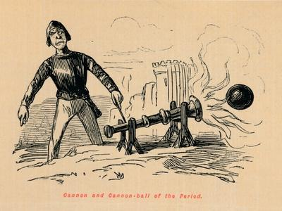 'Cannon and Cannon-ball of the Period',
