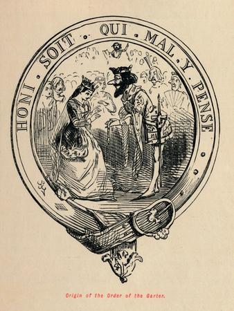 'Origin of the Order of the Garter', c1860, (c1860)