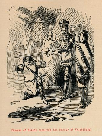 'Thomas of Rokeby receiving the honour of Knighthood', c1860, (c1860)