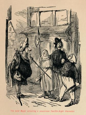 'The Lord Mayor arresting a suspicious Twelfth-Night Character', c1860, (c1860)