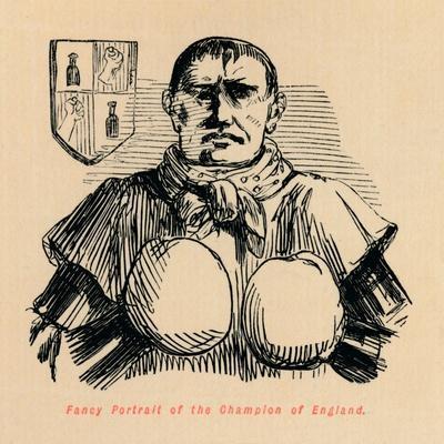 'Fancy Portrait of the Champion of England', c1860, (c1860)
