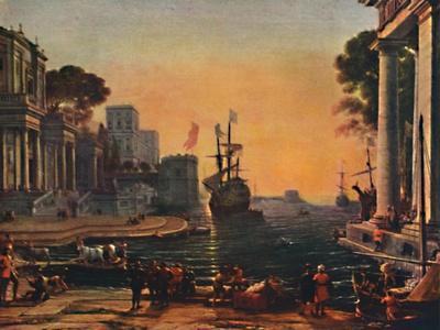 'A Seaport (Vue d'un Port de Mer: Effet de Brume)', 17th century, (1911)