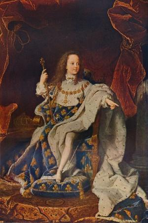 'Louis XV (1710-1774) at the Age of Five in the Costume of the Sacre', c1716û24, (1911)