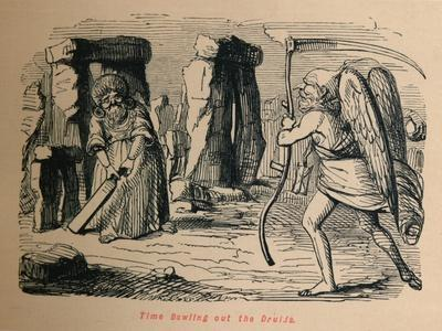 'Time Bowling out the Druids', c1860, (1860)