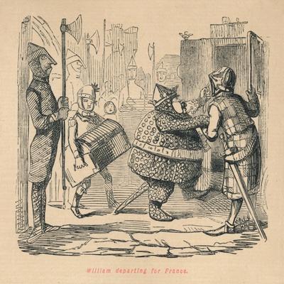 'William departing for France', c1860, (c1860)