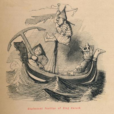 'Unpleasant Position of King Harold', c1860, (c1860)