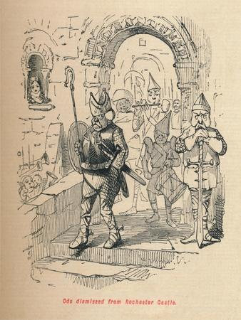 'Odo dismissed from Rochester Castle', c1860, (c1860)