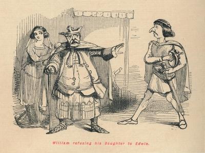 'William refusing his Daughter to Edwin', c1860, (c1860)