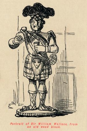 'Portrait of Sir William Wallace, from an old wood block', c1860, (c1860)