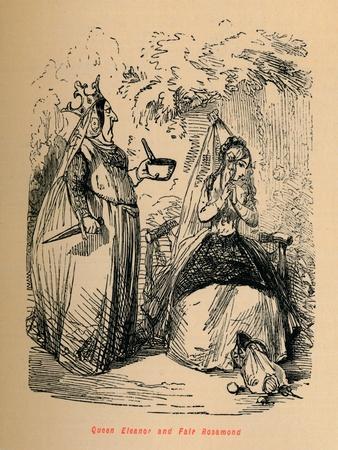 'Queen Eleanor and Fair Rosamond', c1860, (c1860)