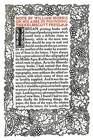 'Kelmscott Press: Page printed in the Golden Type', c.1895, (1914)