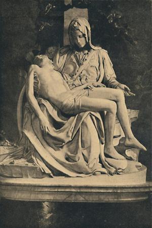 'Roma - Basilica of St. Peter. Pieta by Michelangelo', 1910
