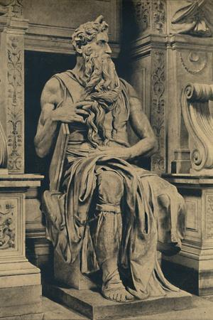 'Roma - Church of St. Peter in Vinculis - Moses, by MIchelangelo', 1910
