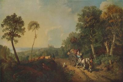 'Landscape with Market Cart', 18th century, (1935)