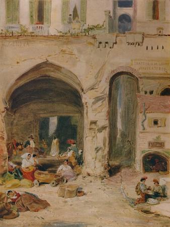 'A Courtyard in Genoa', c1850, (1935)