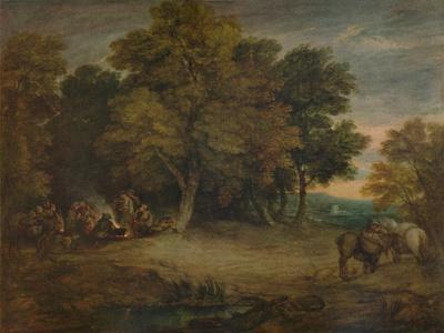 'Gipsy Encampment: Sunset', c1758, (1935)