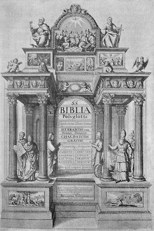 'Title-Page of Walton's Polyglot Bible', 1657, (1904)