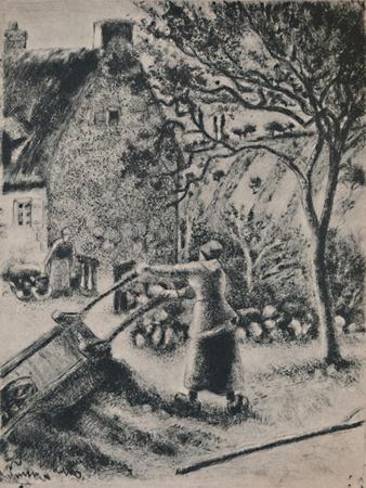 'Woman Emptying a Wheel Barrow', c.1880, (1946)