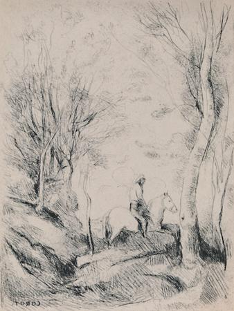'The Horseman in the Wood', c.1854, (1946)