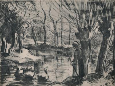 'The Goose Girl', c.1870s, (1946)