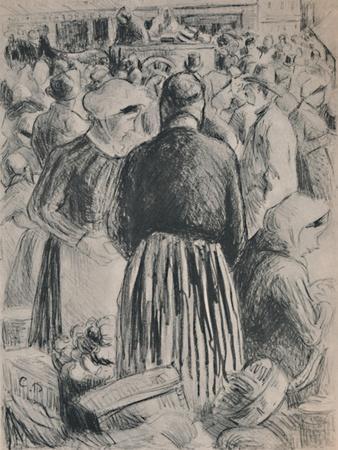 'The Market at Pontoise', 1895, (1946)