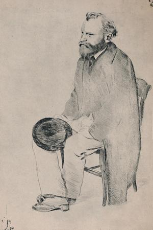 'Portrait of Manet Seated', c.1865, (1946)