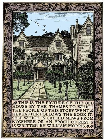 Kelmscott Manor, Gloucestershire, frontispiece to News from Nowhere, c1892 (1901)