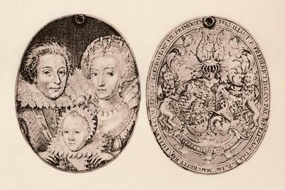 'Frederick of Bohemia, Elizabeth Stuart, and their son, Frederick Henry', 1621, (1904)