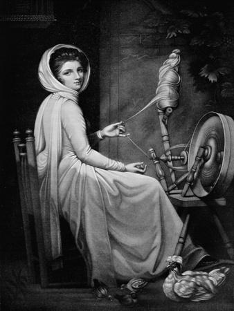 'Lady Hamilton as The Spinstress', c1782, (1912)