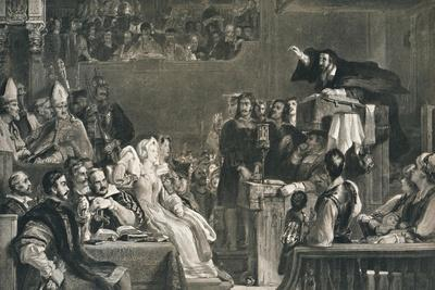 'John Knox Preaching before the Lords of the Congregation, 10 June 1559', c1827, (1912)