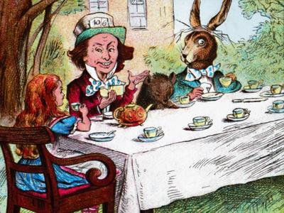 'Alice at the Mad Hatter's Tea Party', c1910