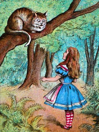 'Alice and the Cheshire Cat', c1910