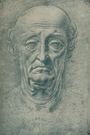 'Head of an Old Man', c15th century, (1932)