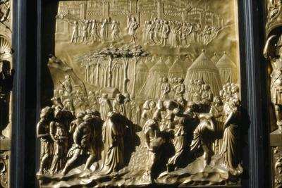 Israelities Take Jericho, detail of Baptistry Door, Florence, Italy, c15th century