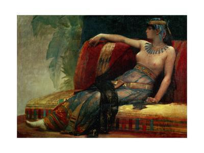 Pharaoh Cleopatra VII. Canvas.