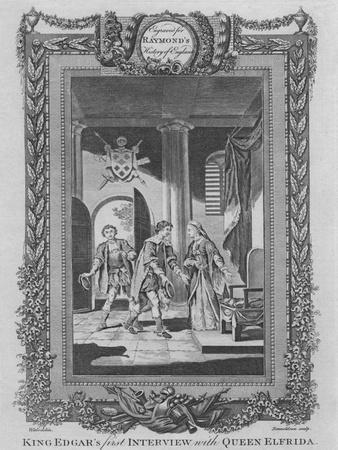 'King Edgar's first Interview with Queen Elfrida', c1787